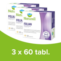 3 x NATURELL Folian 60 tabletek