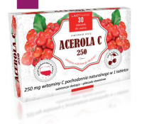 ACEROLA C  250 30 tabletek do ssania AVET