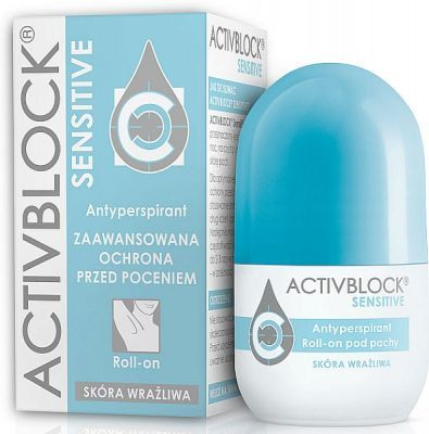 ACTIVBLOCK SENSITIVE antyperspirant skóra wrażliwa roll-on 25 ml