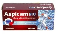 ASPICAM BIO 7,5 mg 10 tabletek