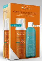 AVENE CLEANANCE SUNSCREEN SPF50+ do skóry tłustej 50 ml + CLEANANCE Żel 100 ml