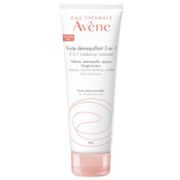 AVENE fluid do demakijażu 3w1 200 ml + AVENE łagodny peeling w żelu 15 ml