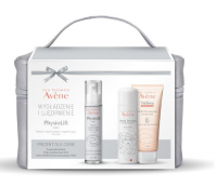 AVENE PHYSIOLIFT Balsam na noc 30 ml + woda termalna 50 ml + żel 100 ml + KUFEREK