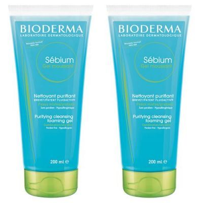 BIODERMA SEBIUM GEL MOUSSANT żel 200 ml + 200 ml