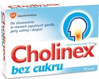 CHOLINEX BEZ CUKRU 16 tabletek do ssania
