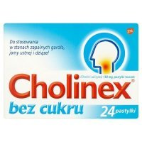 CHOLINEX BEZ CUKRU 24 tabletek do ssania