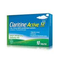 CLARITINE ACTIVE 5 mg + 120 mg 10 tabletek