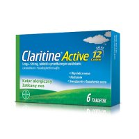 CLARITINE ACTIVE 5 mg + 120 mg 6 tabletek