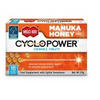 CYCLOPOWER z ksylitolem i miodem MANUKA MGO400+ 16 tabletek do ssania
