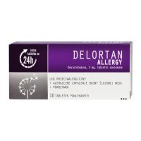 DELORTAN ALLERGY 5 mg 10 tabletek