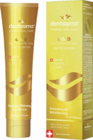 DENTISSIMO SWISS BIODENT Pasta do zębów GOLD ADVANCED WHITENING 75 ml