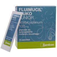 FLUIMUCIL MUKO JUNIOR 100 mg 10 saszetek