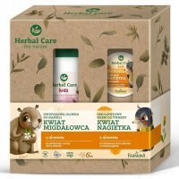 HERBAL CARE KIDS ZESTAW Dwufazowa oliwka do kąpieli 300ml + omega oleo krem 50ml FARMONA