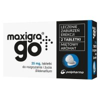 MAXIGRA GO 25 mg 2 tabletki do żucia