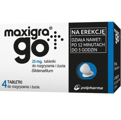 MAXIGRA GO 25 mg 4 tabletki do żucia