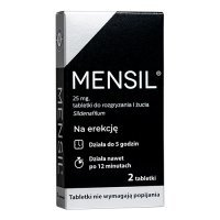 MENSIL 25 mg  2 tabletki do żucia