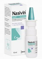 NASIVIN SOFT 0.025% aerozol do nosa 10 ml