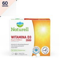 NATURELL WITAMINA D3 2000 60 tabletek do ssania