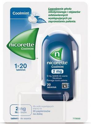 NICORETTE COOLMINT 2 mg 20 tabletek