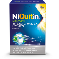 NIQUITIN MENTHOL 4 mg 100 gum do żucia