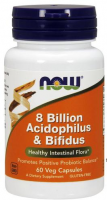 NOW FOODS 8 BILLION ACIDOPHILUS & BIFIDUS  60 kapsułek