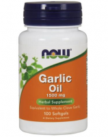 NOW FOODS Garlic oil 1500mg 100 kapsułek