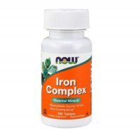 NOW FOODS IRON COMPLEX kompleks żelaza 100 tabletek