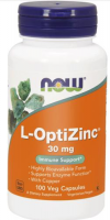 NOW FOODS L-OPTIZINC cynk i miedź 30 mg 100 kapsułek