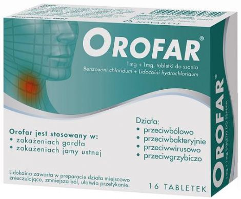 OROFAR JUNIOR 16 tabletek do ssania