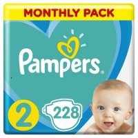 PAMPERS ACTIVE BABY (rozmiar 2) 4-8 kg, 3 x 76 sztuk