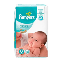 PAMPERS Pro Care 0 pieluchy (1 - 2,5 kg) 38 sztuk