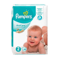 PAMPERS Pro Care 2 pieluchy (3 - 6 kg) 36 sztuk