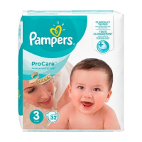 PAMPERS Pro Care 3 pieluchy (5 - 9 kg) 32szt