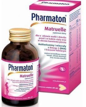 38e5c5a5f87b9f PHARMATON MATRUELLE witaminy dla matek, dla kobiet w ciąży, po porodzie 60  kapsułek