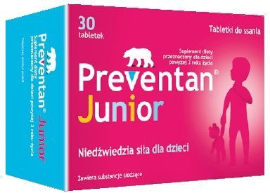 PREVENTAN JUNIOR 30 tabletek do ssania