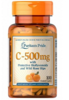 PURITAN'S PRIDE Witamina C  500 mg 100 tabletek