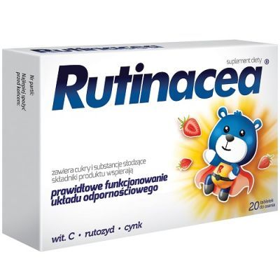 RUTINACEA JUNIOR 20 tabletek do ssania