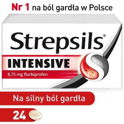 STREPSILS INTENSIVE 24 tabletki do ssania