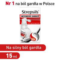STREPSILS INTENSIVE DIRECT aerozol 15 ml  DATA WAŻNOŚCI 30.09.2019