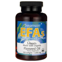 SWANSON Flaxseed Oil 1000 mg 100 kapsułek
