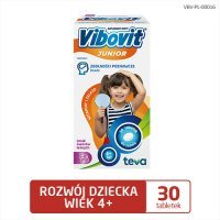 VIBOVIT JUNIOR WITAMINY + ŻELAZO 30 tabletek do ssania