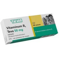 VITAMINUM B6 TEVA 50 mg 50 tabletek