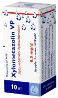 XYLOMETAZOLIN VP 0,5mg/ml krople do nosa 10 ml